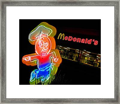 Mickey D's Framed Print