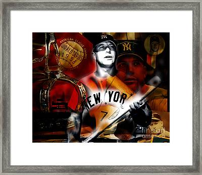Mickey Mantle Collection Framed Print by Marvin Blaine