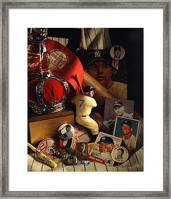 Mickey Mantle Framed Print by David M Spindel