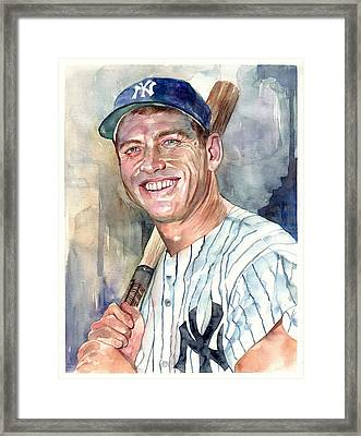 Mickey Mantle Portrait Framed Print