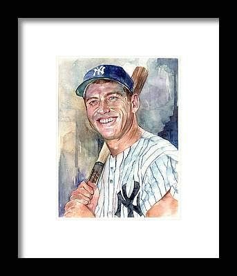 Mickey Mantle Framed Prints