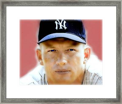Mickey Mantle Framed Print by Wbk