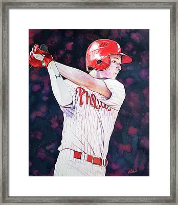 Mickey Moniak Class Of 2016 Framed Print by Michael Pattison