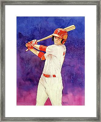 Mickey Moniak Number 1 Pick Framed Print by Michael Pattison