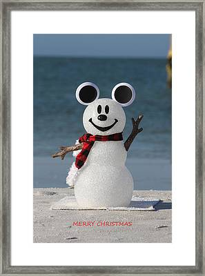 Mickey Mouse Snowman Photograph By Shari Bailey