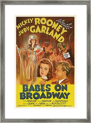 Mickey Rooney And Judy Garland - Babes On Broadway 1941 Framed Print