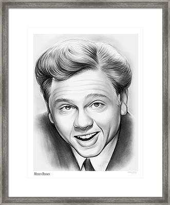 Mickey Rooney Framed Print