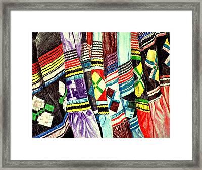 Micosukee Skirts Framed Print by Sam Vega