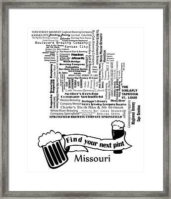 Micro Brew Missouri Framed Print
