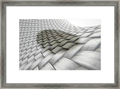 Micro Fabric Weave Stain Framed Print by Allan Swart