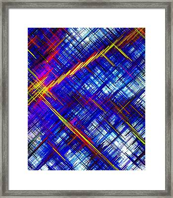 Micro Linear 6 Framed Print by Will Borden