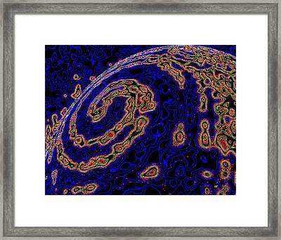 Micro Planet Framed Print