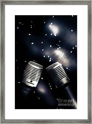 Microphone Club Framed Print by Jorgo Photography - Wall Art Gallery