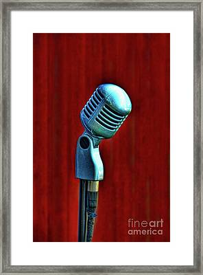 Framed Print featuring the photograph Microphone by Jill Battaglia