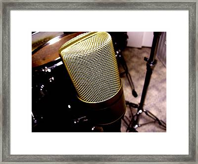 Microphone Framed Print by Michael Grubb
