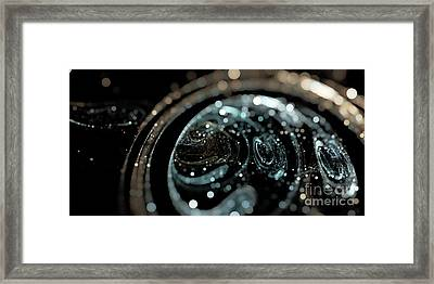 Microscopic IIi - Opale Framed Print by Sandra Hoefer