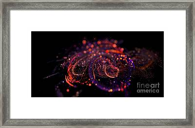 Microscopic Iv - Glass Jewels Framed Print by Sandra Hoefer