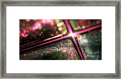 Microskopic Vi - Disco Fever Framed Print by Sandra Hoefer