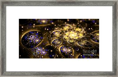 Microskopic Vii - Galaxy Framed Print by Sandra Hoefer