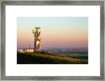 Microwave Tower Framed Print