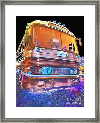Mid Century Gm Greyhound Bus Abstract Framed Print by Scott D Van Osdol