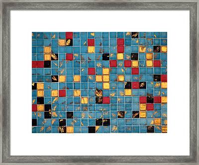 Mid Century Tiles Framed Print