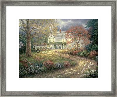 Mid Country Farmhouse Framed Print by Chuck Pinson