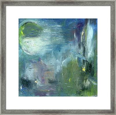 Framed Print featuring the painting Mid-day Reflection by Michal Mitak Mahgerefteh