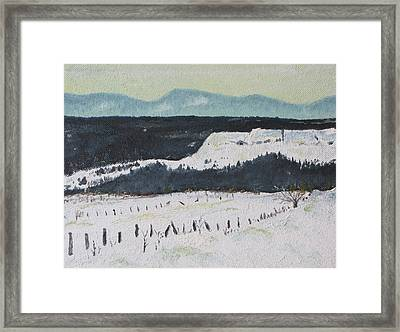 Mid March In The Appalachians  Framed Print