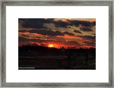 Framed Print featuring the photograph Mid Ohio Sunset by Bruce Patrick Smith