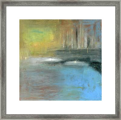 Framed Print featuring the painting Mid-summer Glow by Michal Mitak Mahgerefteh