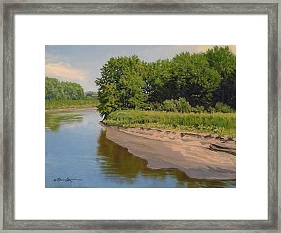 Mid Summer Prairie Stream Framed Print