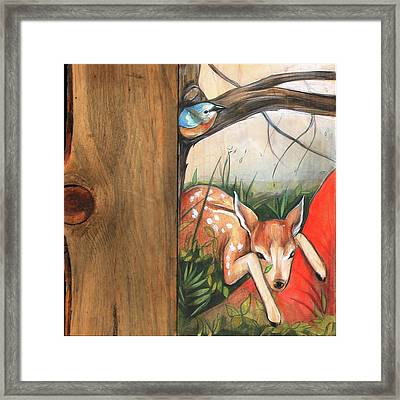 Mid-summers Day Dream 1st Panel Framed Print by Jacque Hudson
