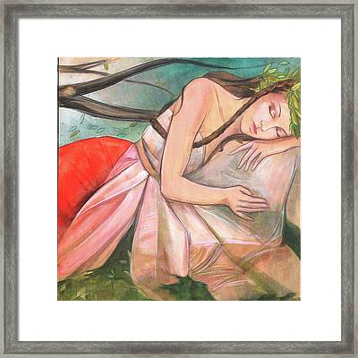 Mid-summers Day Dream 2nd Panel Framed Print by Jacque Hudson