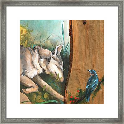 Mid-summers Day Dream 3rd Panel Framed Print by Jacque Hudson