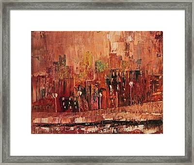 Framed Print featuring the painting Mid Town by John Stuart Webbstock