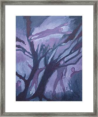 Mid-winter Dream Of Flight Framed Print by Robert Bissett