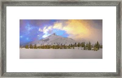Mid-winter Sunset Framed Print