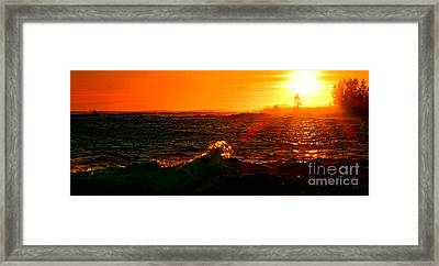 Midcoast Maine Sunset Framed Print by Olivier Le Queinec