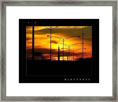 Midcourse Framed Print by Jonathan Ellis Keys