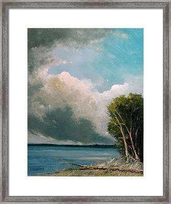 Midday Clouds Framed Print