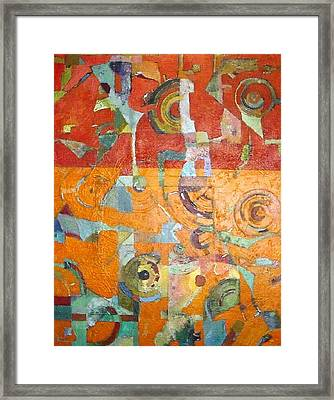 Framed Print featuring the painting Midday In The Sonoran Desert by Bernard Goodman