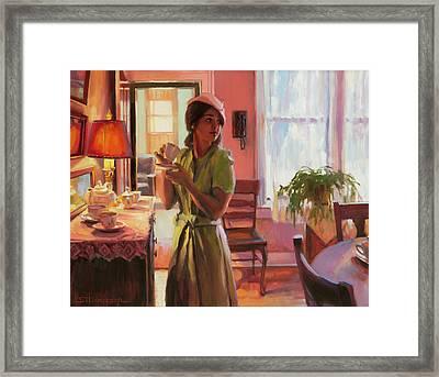Midday Tea Framed Print by Steve Henderson
