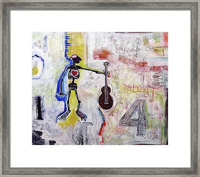 Middle-aged Musician Framed Print