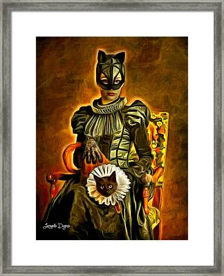 Middle Ages Catwoman Framed Print