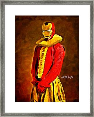 Middle Ages Iron Man - Da Framed Print