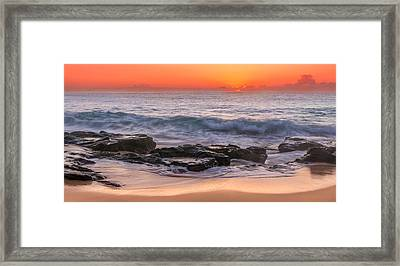 Middle Beach Sunrise Framed Print