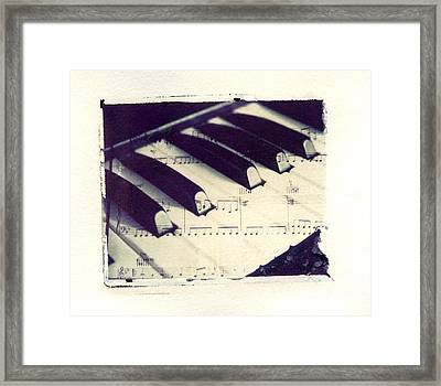 Middle C Polaroid Transfer Framed Print by Jane Linders
