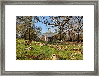 Framed Print featuring the photograph Middle College On An Autumn Day by Viviana  Nadowski