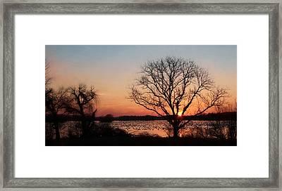 Middle Creek Sunrise 2 Framed Print by Lori Deiter